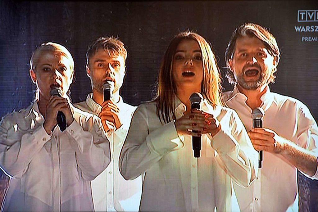 Olga Szomańska, Marcin Januszkiewicz, Katarzyna Ucherska i Marcin Kołaczkowski